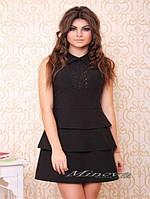 """Платье №3004-""""Бекхем""""-черный"""