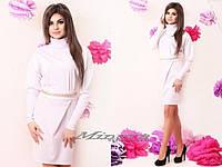 "Платье №3047-""Victoria Beckham цепочка""-белый"
