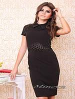 """Платье №3006-""""Бекхем""""-черный"""