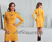 Платье №3059-горчица