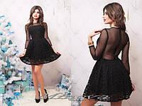 """Платье №3028-""""Анабель""""-черный"""