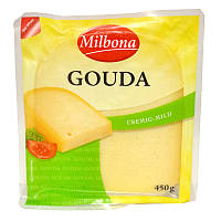 Сыр твердый milbona Gouda 450 г