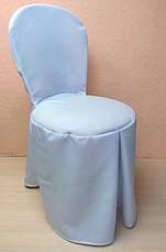 """Чохол на стілець Віденський/Лілія"""" з міцної легкої тканини З поясом, фото 3"""