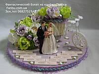 """Свадебный подарок из конфет""""Свадебный велосипед""""№29+16"""