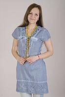 Женское платье - туника с коротким рукавом