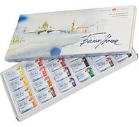 Набор акварельных красок Белые ночи 24цв, кюветы, картон, Невская Палитра ЗХК