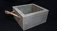 Ящик-кашпо деревянный (15,5х15,5х7,5) 120\90 (цена за 1 шт. +30 грн.)
