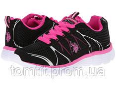 Фирменные кроссовки US POLO ASSN - Teri, оригинал, цвет черный, размер 36