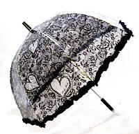 Зонт детский прозрачный Цветы с Рюшкой 001-4
