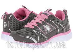 Фирменные  кроссовки US POLO ASSN. - Teri, оригинал, цвет серый, размер 36