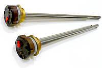 """ТЭН 1500Вт для чугунного радиатора, резьба 1¼"""" правая, гайка латунь, с терморегулятором RTS16A с термозащитой"""