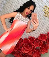 Легкое платье с плавным переходом цветов