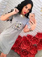 Платье Шанель с камнями и бисером