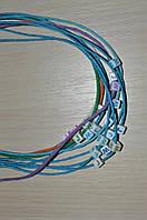 вощеный шнур 1,5 мм с 2 бусинами буквами.