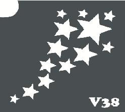 Трафарет № 345 V звезды