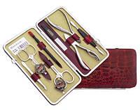 Набор маникюрно-педикюрный  Niegelon 07-0703,  8 предметов, сатин