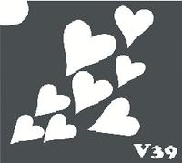 Трафарет № 346 V - сердечки