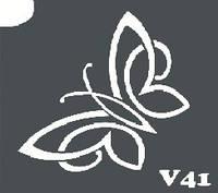 Трафарет № 041 V - бабочка