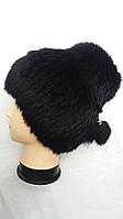 Женская шапка кубанка кролик на трикотажной основе