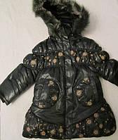 Куртка удлиненная зимняя для девочки, код 159, фото 1