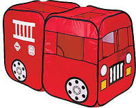 Детская игровая палатка пожарная машина