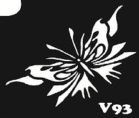 Трафарет № 093 V - бабочка