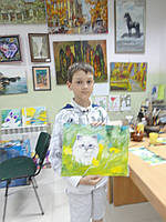 "Картина ""Кот в одуванчиках"""