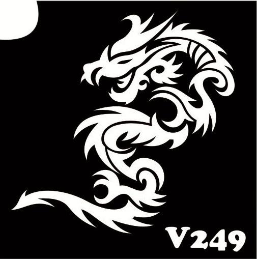 Трафарет № 249 V - дракон