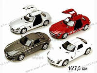 KINSMART Mercedes-Benz SLS AMG, метал, инерц., 1:36, в кор. 16х8х7 /96-4(KT5349W)