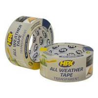 Клейкая лента HPX ALL WEATHER TAPE для ремонта стекла и пластиков, 48 мм x 25 м, 180 микрон, прозрачный
