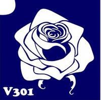 Трафарет № 301 V - роза