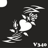 Трафарет № 340 V - сердечко