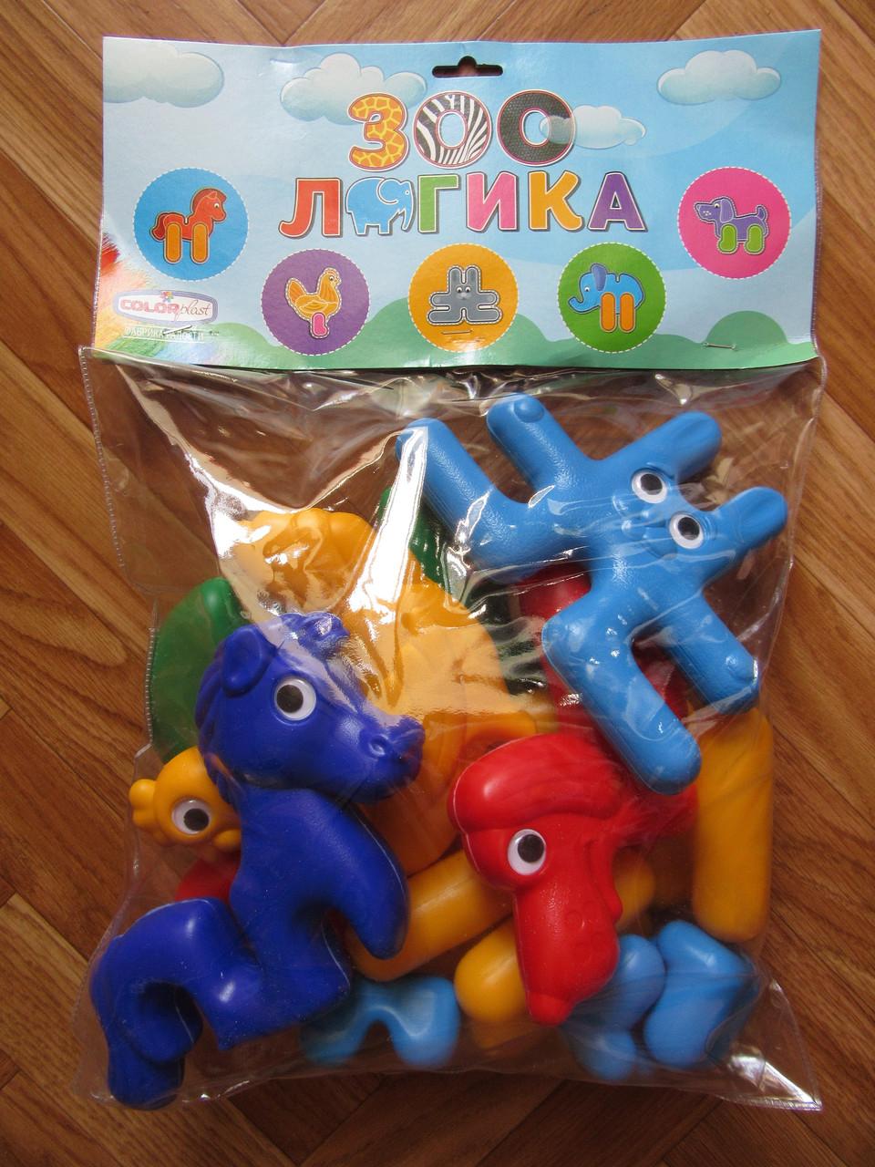 Конструктор-пазл Зоо-Логика для малышей. Звери, 13 деталей, Colorplast
