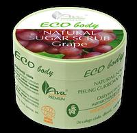 Органический сахарный скраб с виноградом - Eco Body-Natural Sugar Scrub Grape, 250 г