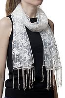 Свадебный шарф бежевый гранд