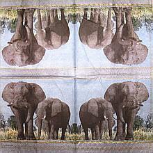 Салфетка декупажная Слоны 2213