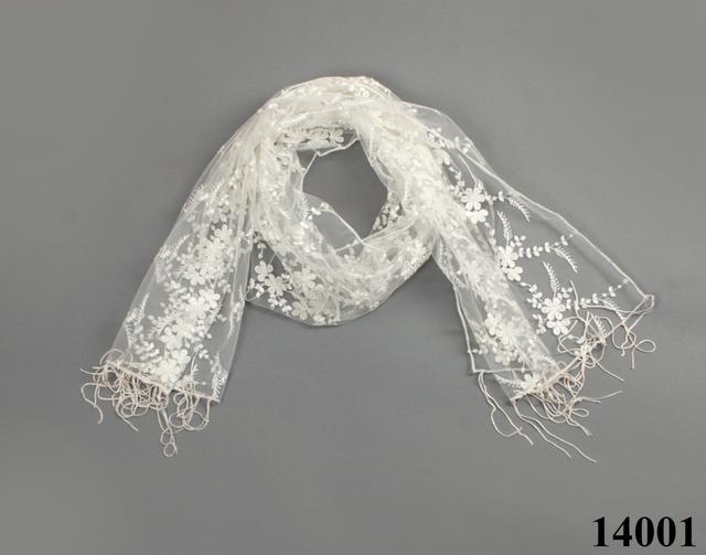 Свадебный шарф бежевый гранд 3