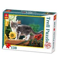 Пазл Trefl 130 Котёнок в цветаx EQL 63883 Ч