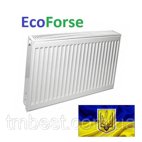 Радиатор стальной EcoForse 500*800 / 22 тип (Украина), фото 2