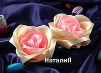 Роза-заколка для волос девочкам из лент канзаши ручная работа Украина