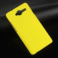 Пластиковый чехол для ZTE Blade L3 жёлтый
