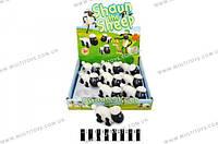Заводная овечка 9шт. на планшете 25,2*24,6*6,3 см. /60/540/(A333-95)
