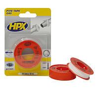 Уплотнительная лента HPX (ФУМ-лента) для фитингов, 12 мм x 12 м, белый, блистер