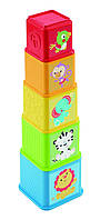 Fisher-Price Складывающиеся кубики веселые животные Stack and Explore Blocks