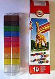"""Пластилін 10 цв K-In """"Жираф"""" 200 гр 23936 KOH-I-NOOR, фото 3"""