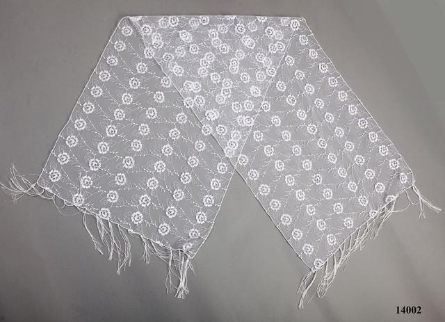 Свадебный шарф белый рима 2