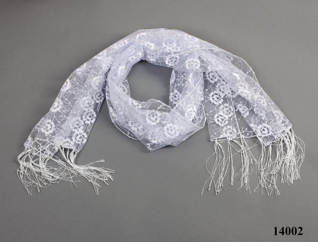 Свадебный шарф белый рима 3