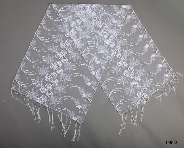 Свадебный шарф белый астра 2