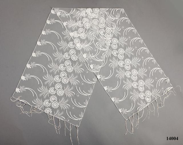 Свадебный шарф бежевый астра 2