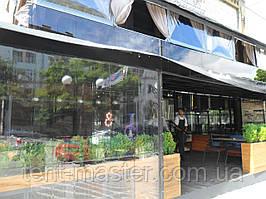 Прозрачные ПВХ шторы для летней площадки ресторана. кафе